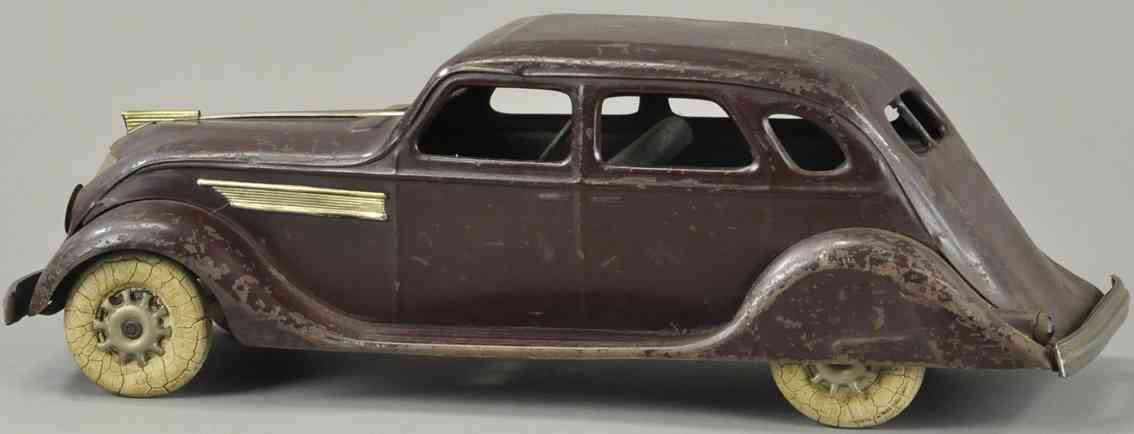 kingsbury toys blech spielzeug auto winschnittige limousine mokkafarben