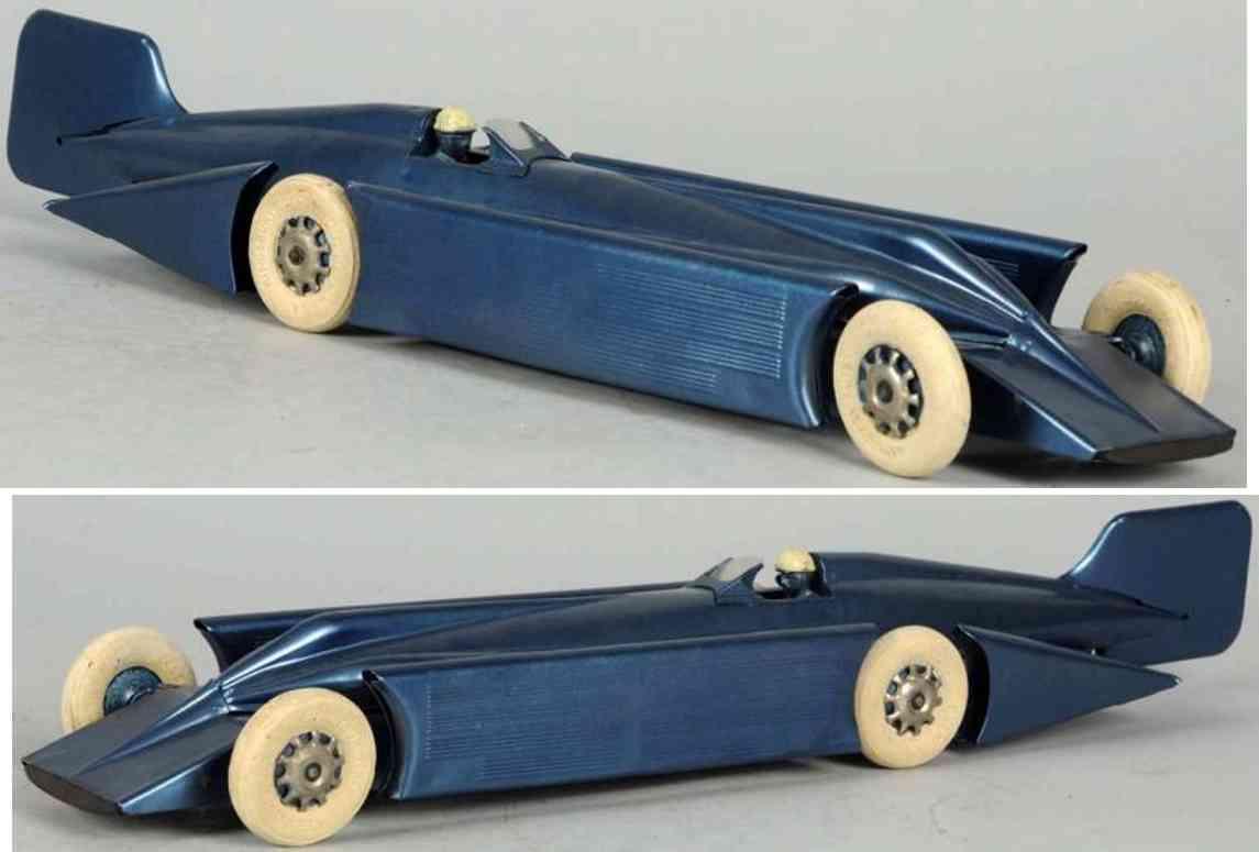 kingsbury toys spielzeug rennauto rennwagen blau goldener pfeil