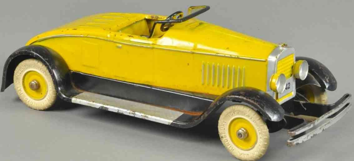 kingsbury toys spielzeug auto cabriolet stahlblech gelb