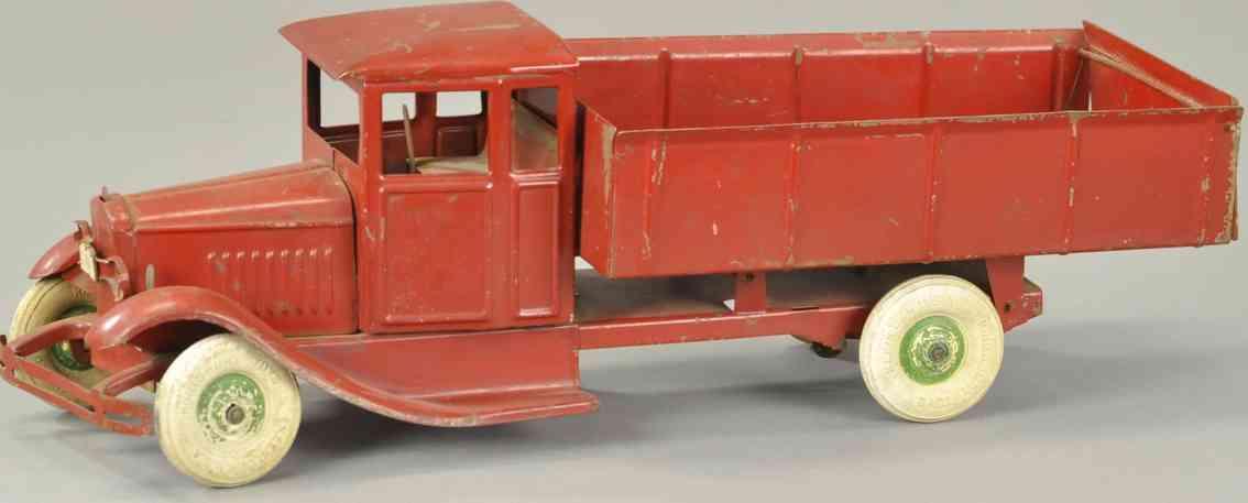 kingsbury toys 262 blech spielzeug kipplastwagen elektrische scheinwerfern rot