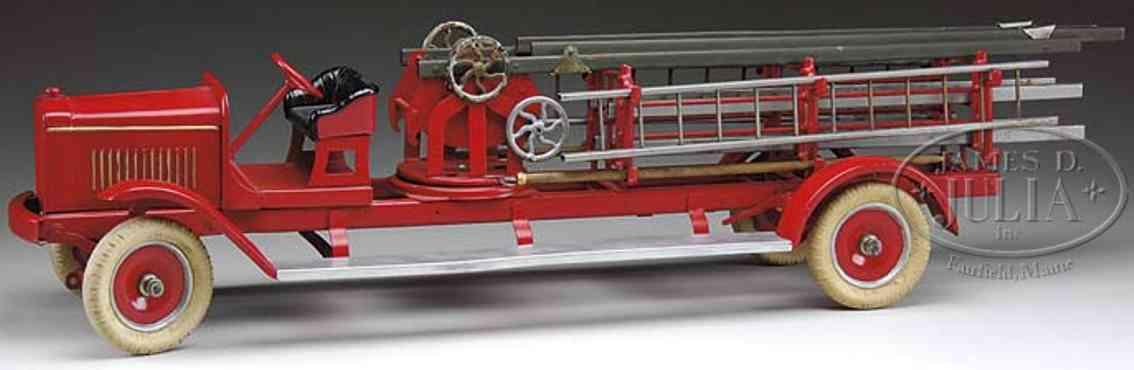 kingsbury toys blech feuerwehrleiterwagen