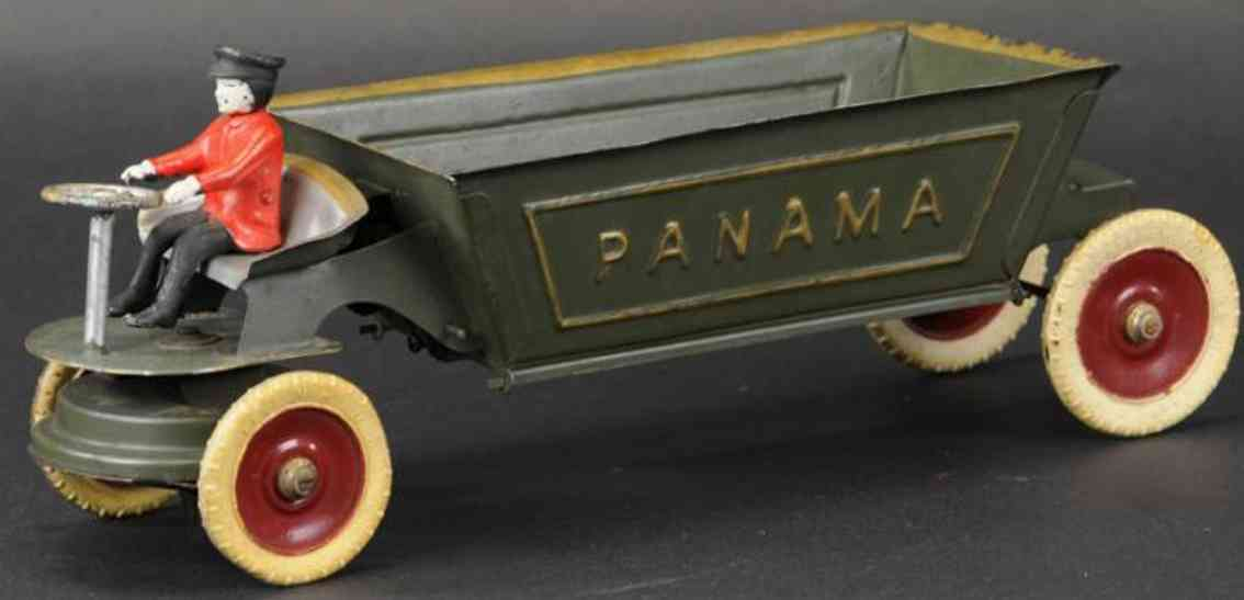 kingsbury toys gestanzter stahl panama kipplastwagen