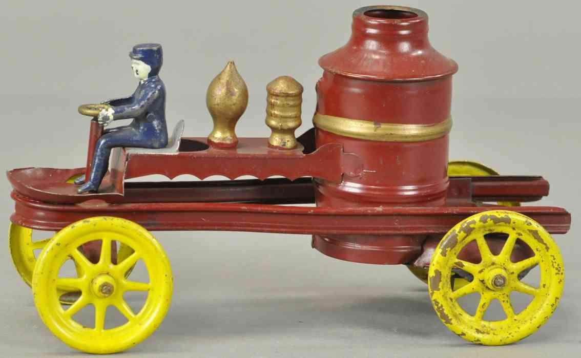 kingsbury toys blech tankloeschfahrzeug uhrwerk