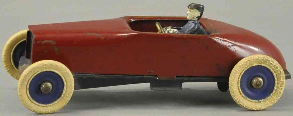 kingsbury toys stahlblech spielzeug rennauto rennwagen 700er serie rot fahrer