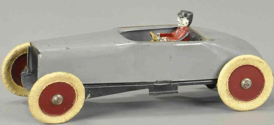 kingsbury toys stahlblech spielzeug rennauto rennwagen 700er serie grau fahrer