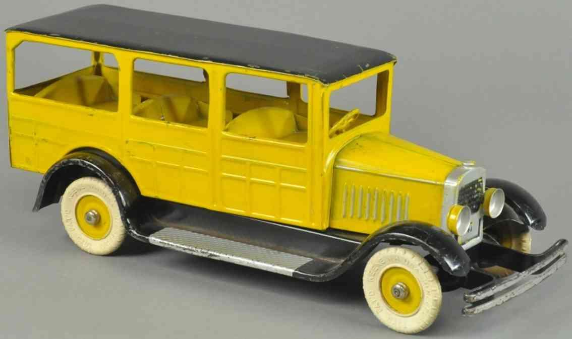 kingsbury toys spielzeug auto kombi stahblech gelb shwarz