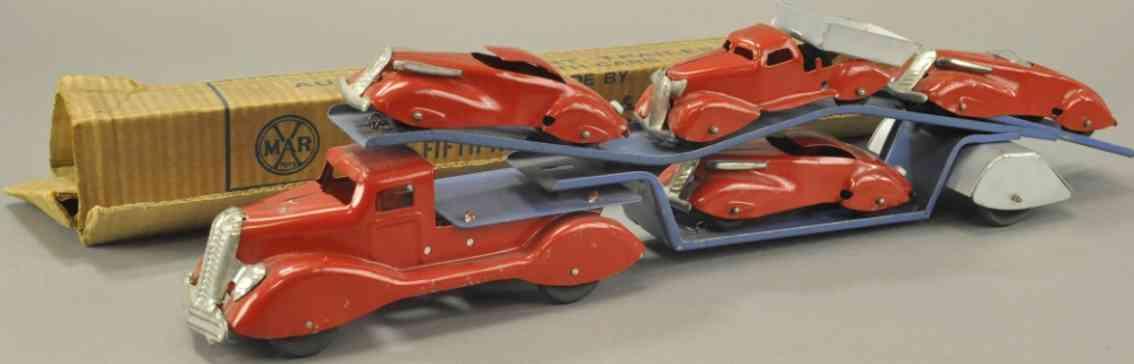 kingsbury toys  blech spielzeug auto-transportlastwagen  couopes kipplastwagen