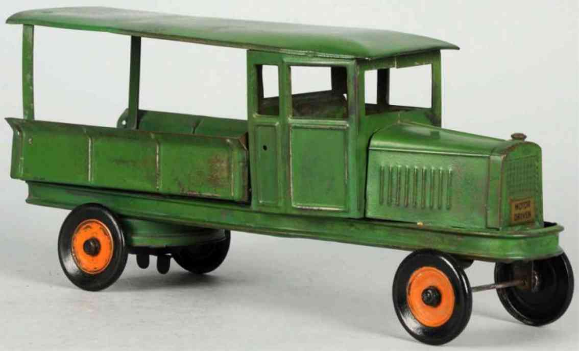 kingsbury toys spielzeug lastwagen stahlblech gruen