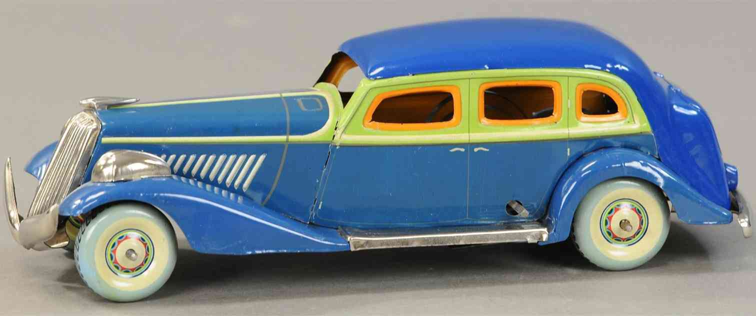 kosuge toy co tin toy car graham paige blue clockwork