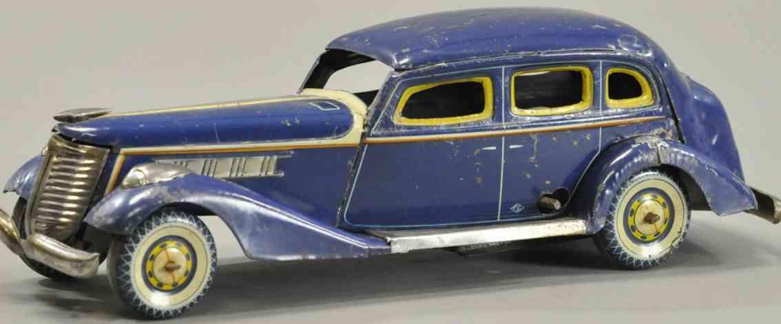 kosuge toy co Packard blech spielzeug auto auto packard aus lithografiertem blech, karosserie in blau,