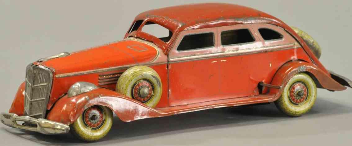 kosuge toy co Packard 11 blech spielzeug auto packard rot uhrwerk