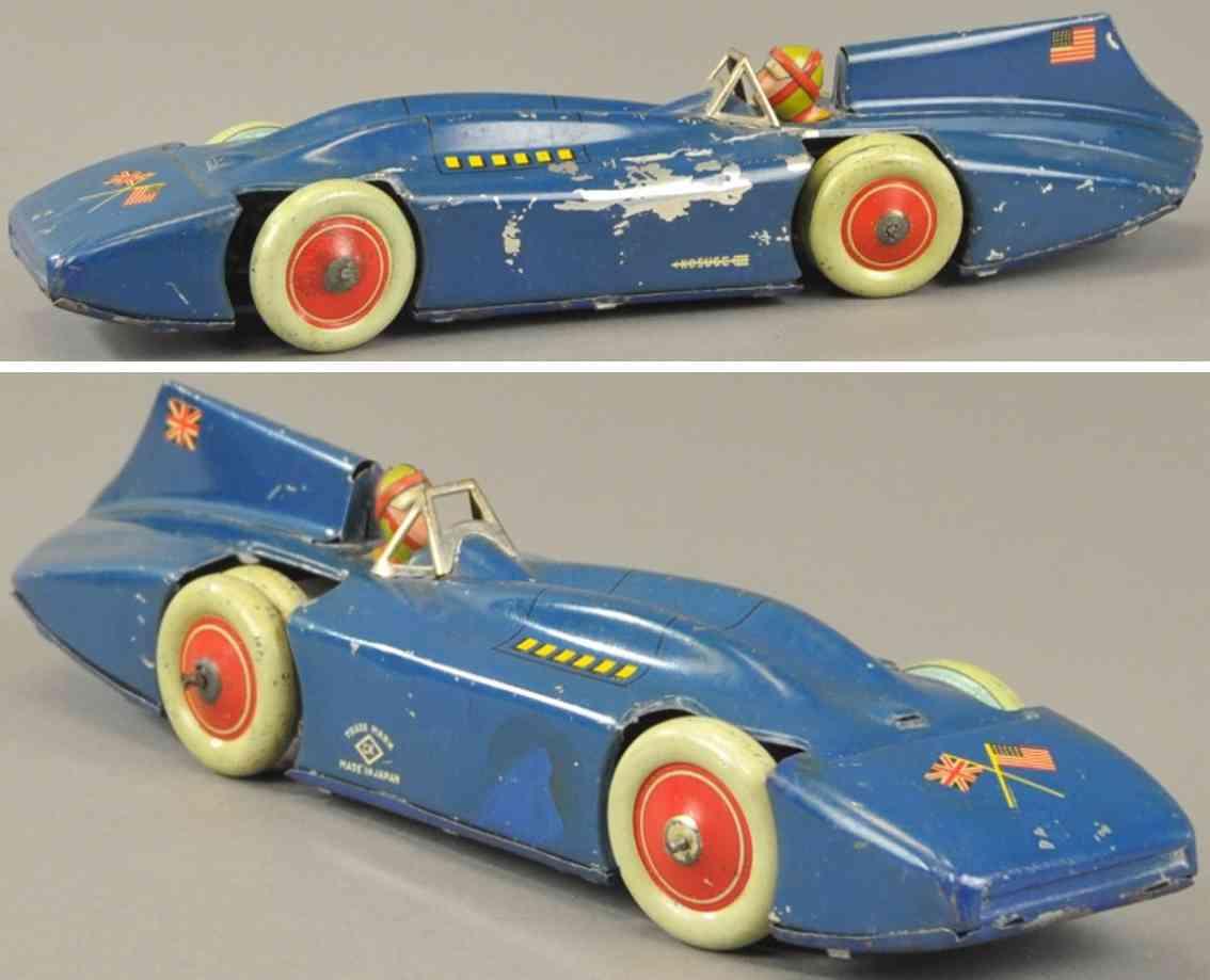 kosuge toy co blech spielzeug rennauto bluebird rennwagen blau