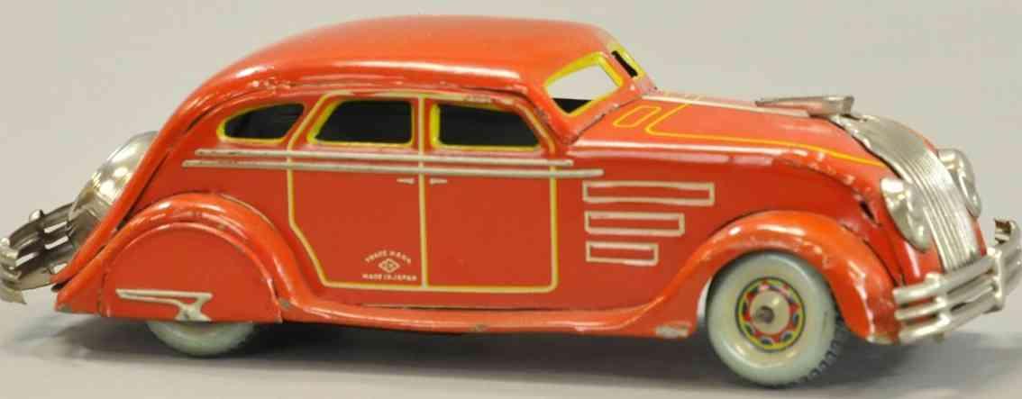 kuramochi blech spielzeug auto chysler windschnittiger wagen rot uhrwerk