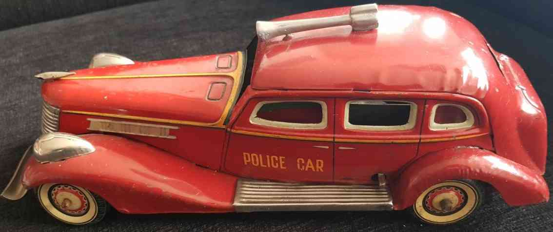kuramochi tin toy car police car graham paige with siren and clockwork