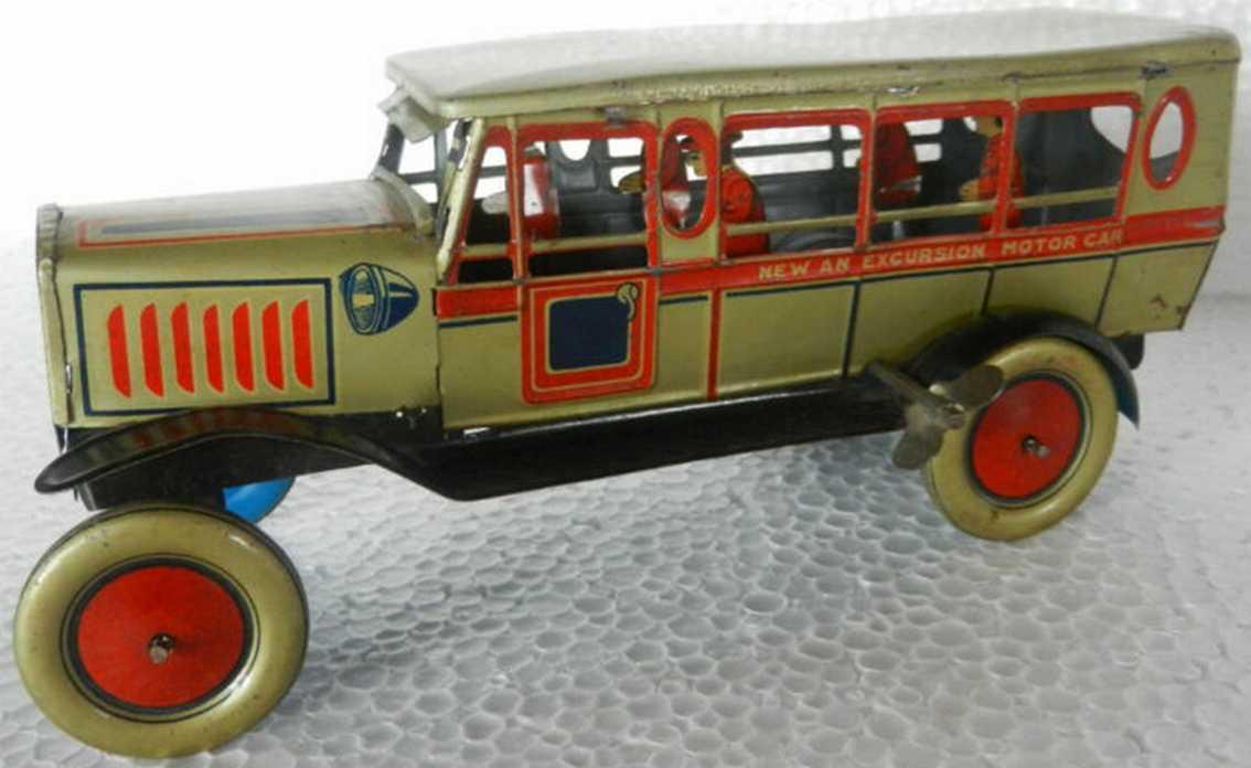 kuramochi tin toy excursion motor car ck