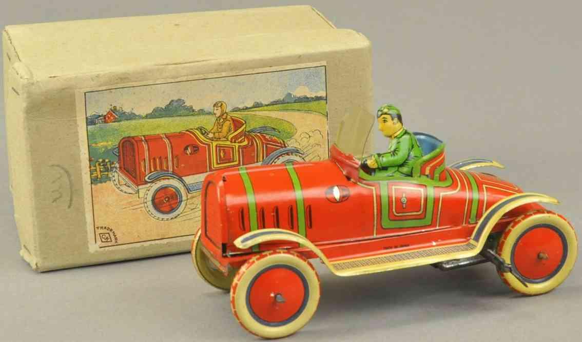 kuramochi tin toy race car red driver
