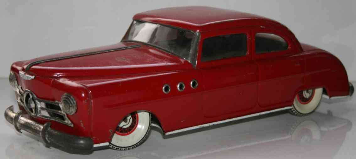 larnaude martinand tin toy wind-up car in red
