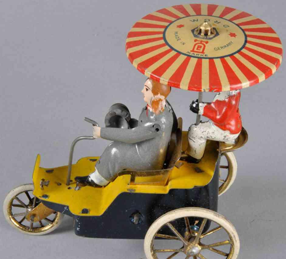 lehmann 345 tin toy car auto onkel new century cycle