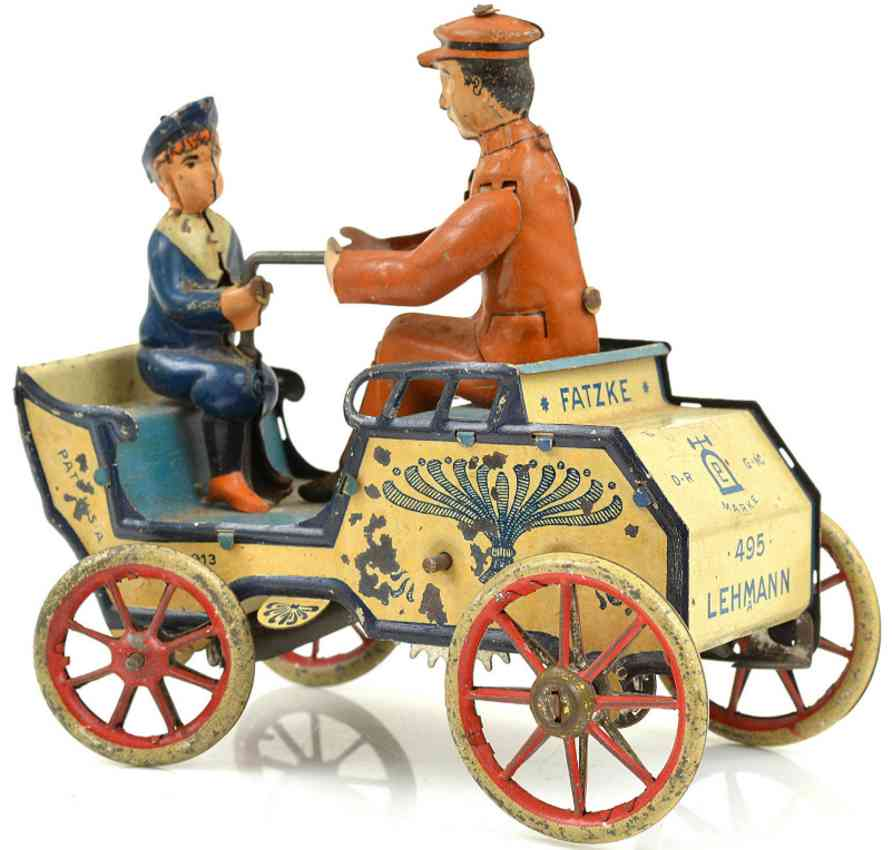 lehmann 495 tin toy car naughty boy clockwork vis-a-vis patzke
