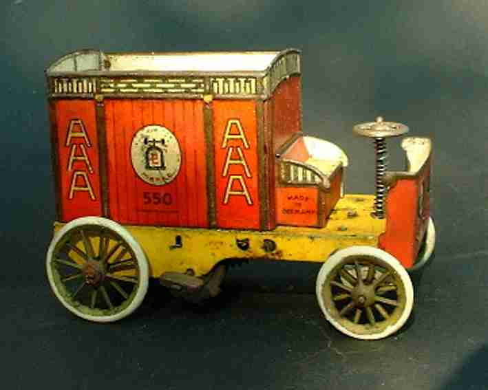 lehmann 550 tin toy aha delivery van