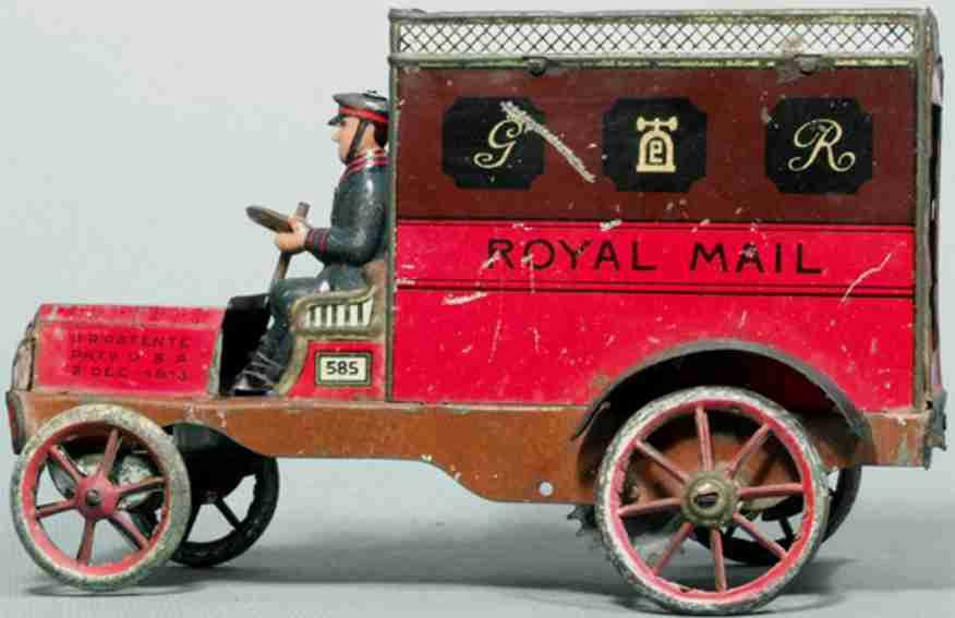 lehmann 585 blech spielzeug lieferwagen royal mail ohne uhrwerk