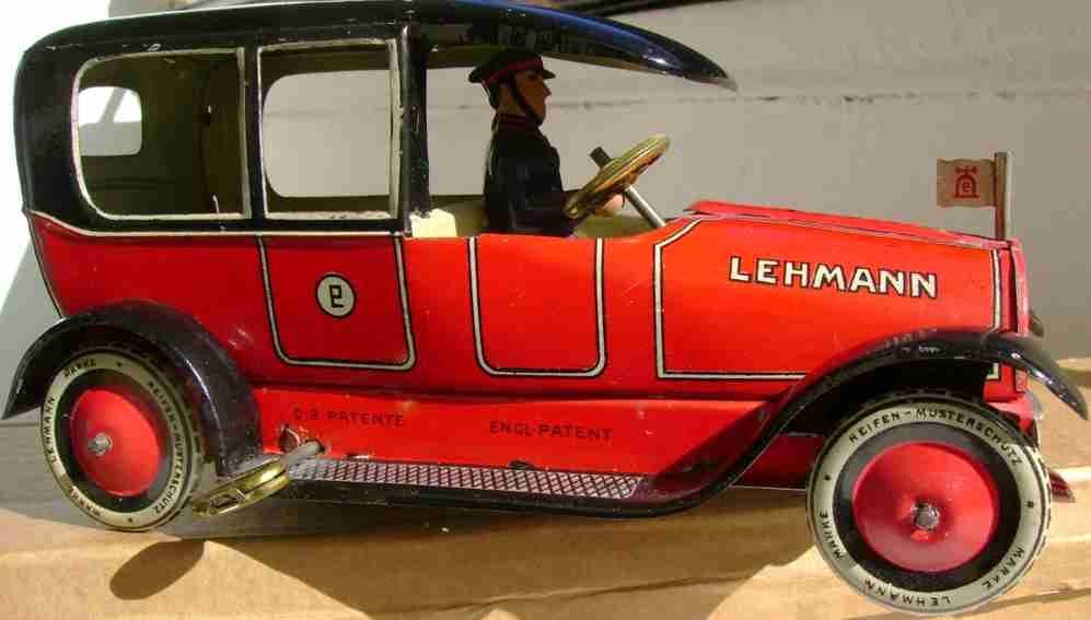lehmann 679 tin toy ito clockwork car red