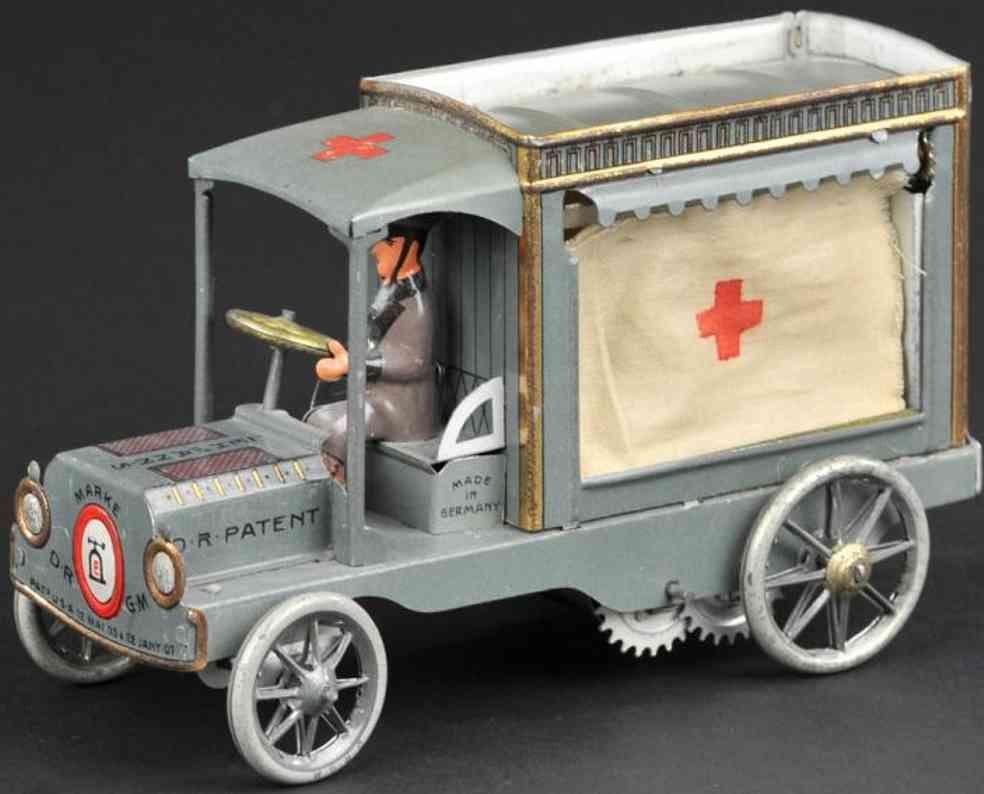 lehmann 734 blech spielzeug auto salus krankenwagen