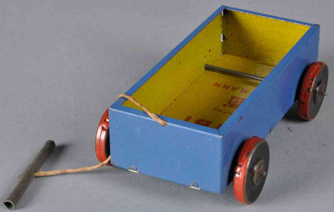 lehmann 749 tin toy bibi candy cart with pull string