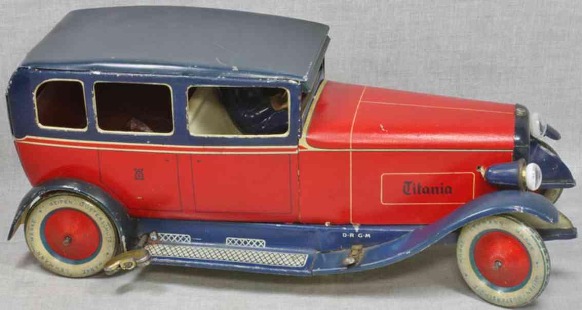 lehmann 779 blech spielzeug auto titania limousine rot
