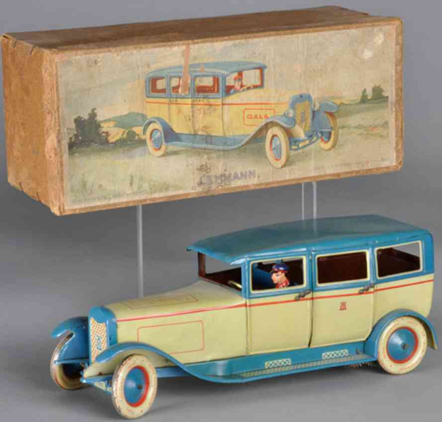 lehmann 780 tin toy car gala travel limousine windup