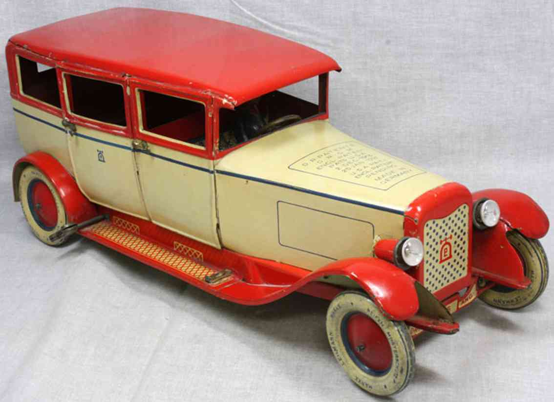 lehmann 785 tin toy car luxury limousine ivory red