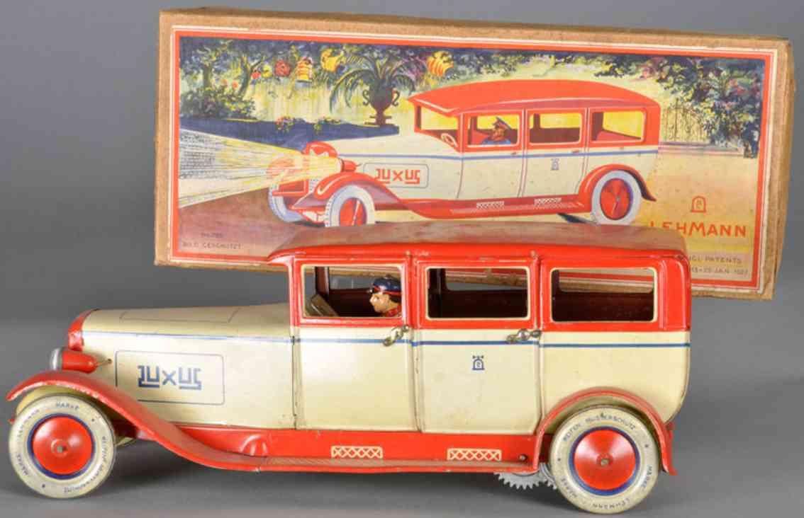 lehmann 785 luxus tin toy car luxury limousine ivory red