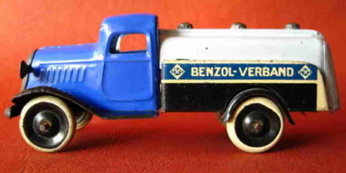 lehmann 830 blech spielzeug bv-aral-tankwagen benzol-verband