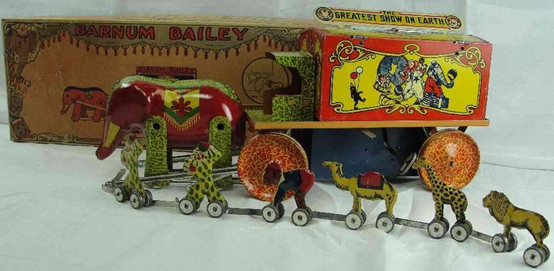 Lindstrom 215 Barnum Bailey Zirkuswagen mit Tieren