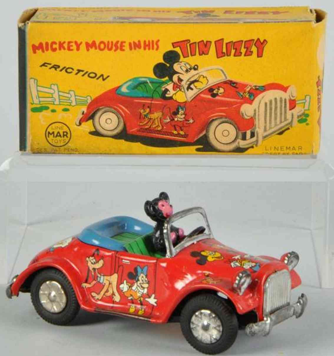 Linemar Mickey Mouse in his tin Lizzy