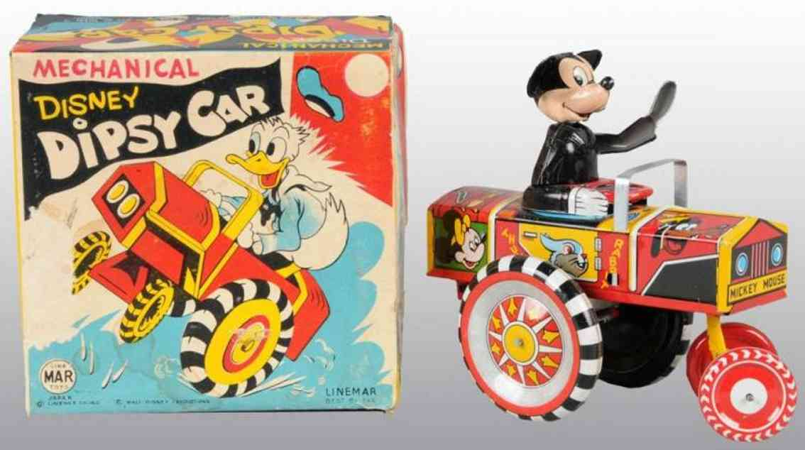 linemar blech spielzeug micky maus in  dipsy auto