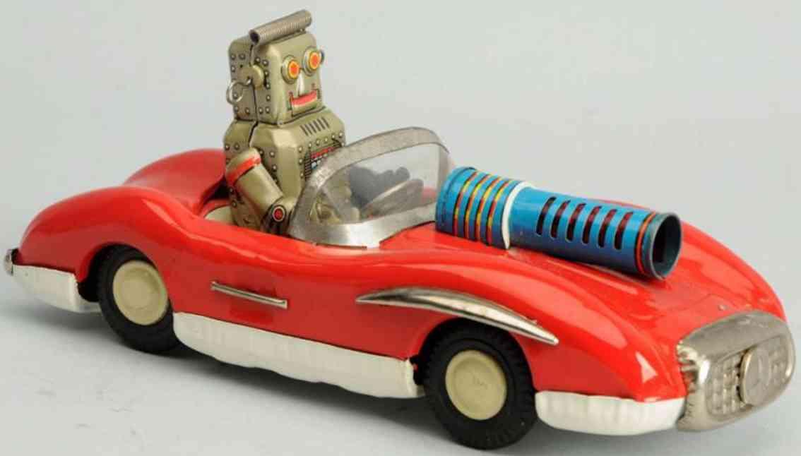 linemar blech spielzeug auto weltraumwagen roboter
