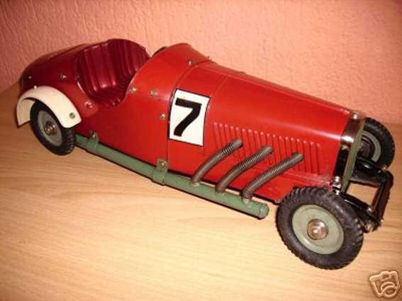 maerklin 1107 r/nk blech spielzeug baukastenauto rennwagen  z rot
