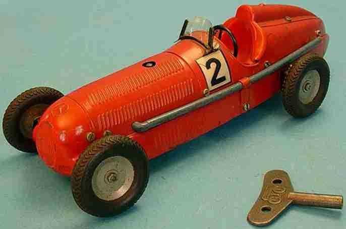 maerklin 1133 R blech spielzeug baukastenauto rennwagen rot oder aluminiumfarbig handlackiert mit uhrwerk,