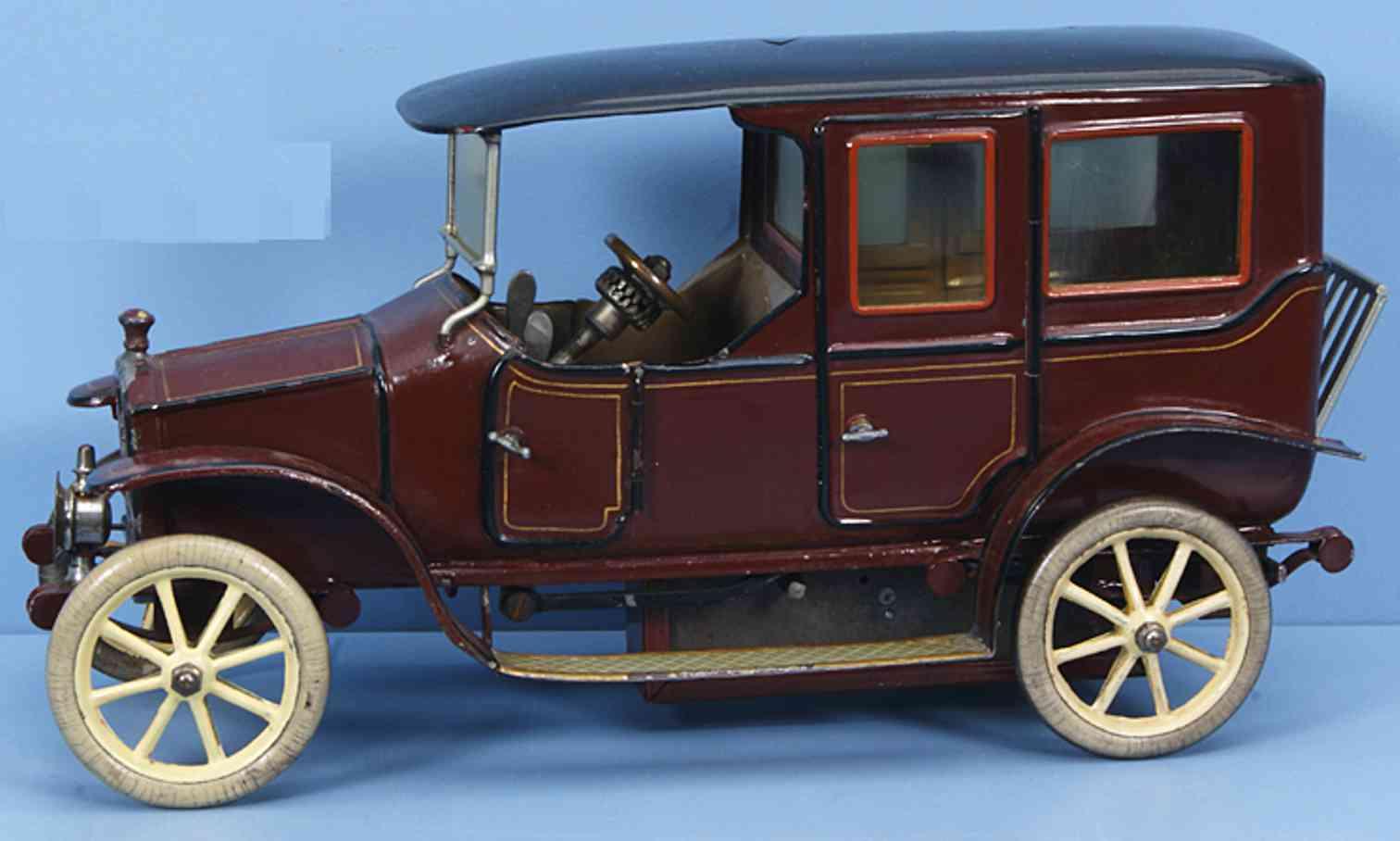 maerklin 5215/1 blech spielzeug auto limousine mit uhrwerk braun schwarz
