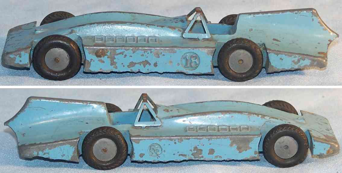 marklin 5521/18 tin toy race car race car bluebird made of zinc die cast