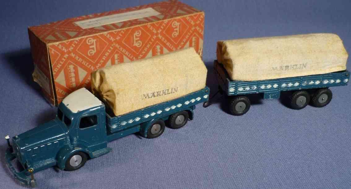 marklin 5521/24 P blech spielzeug mercedes lastwagen mit plane
