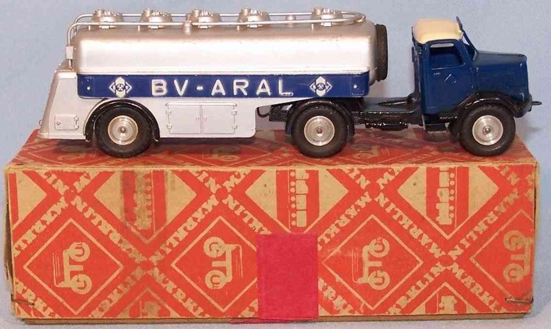 maerklin 5521/27 blech spielzeug thermoplastic tanker bv-aral 8000er series