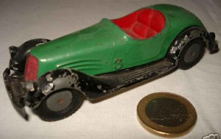 marklin 5521/3 tin toy race car open sports car in the style of the bmw 327