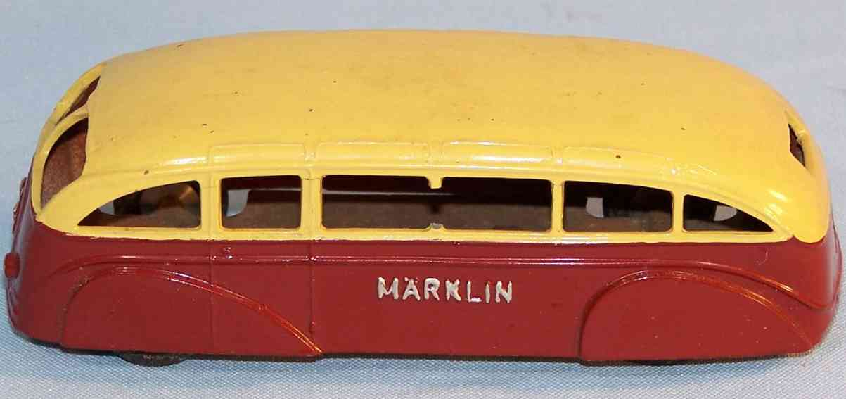 Maerklin 5521/31 Bus wine-red and beige hand-coated