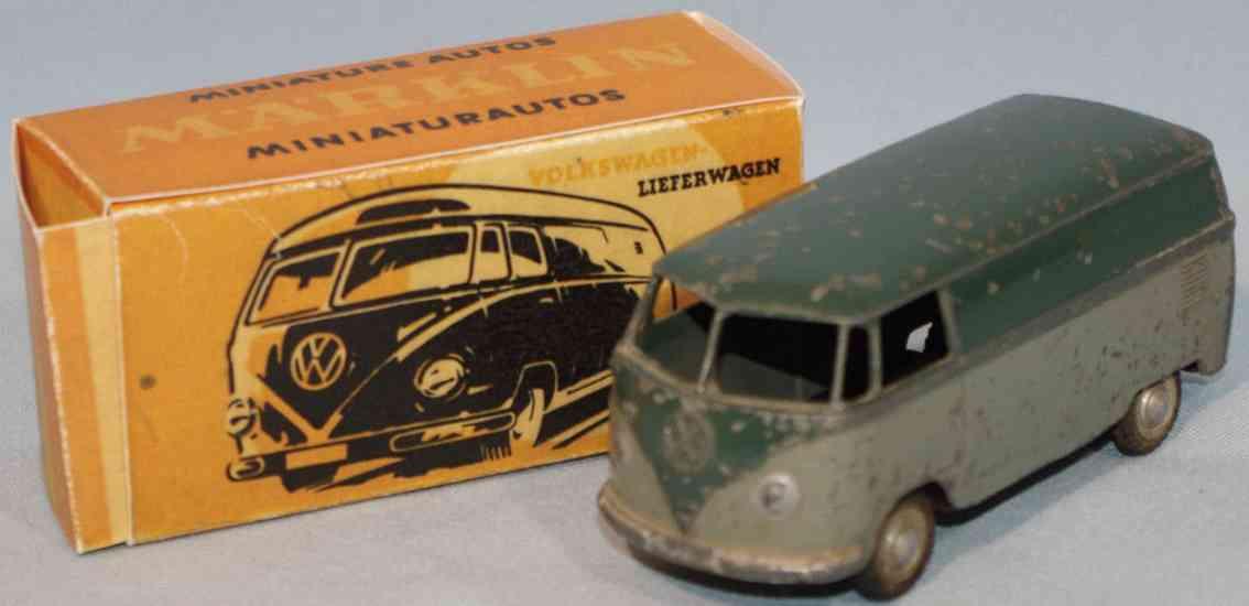 maerklin 5524/5z blech spielzeug autobus volkswagen t1 gruen grau
