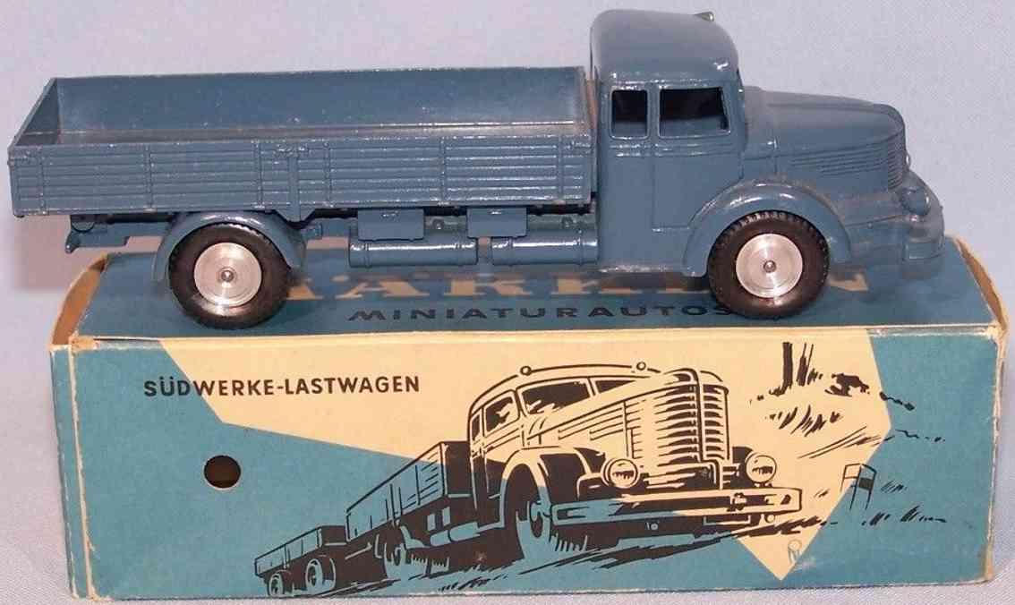 marklin 8009 tin toy flatbed truck suedwerke truck blue