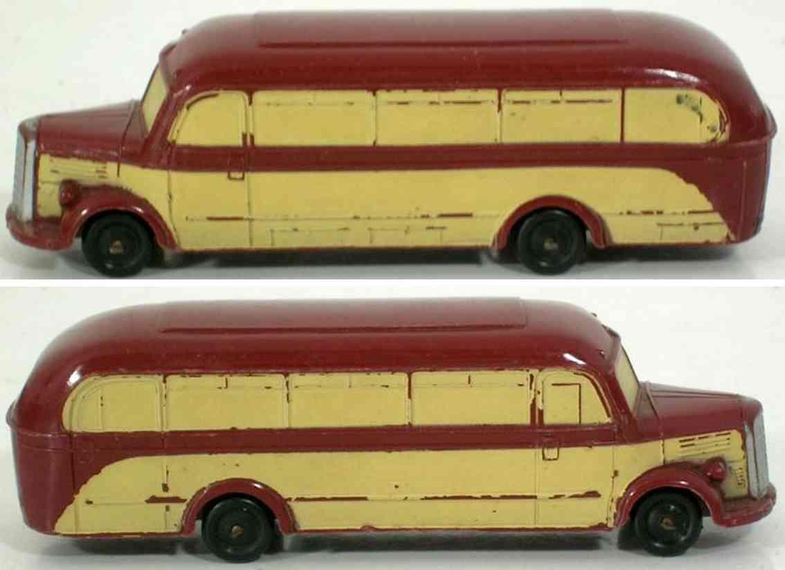 marklin 860/8 tin toy bus in beige brown