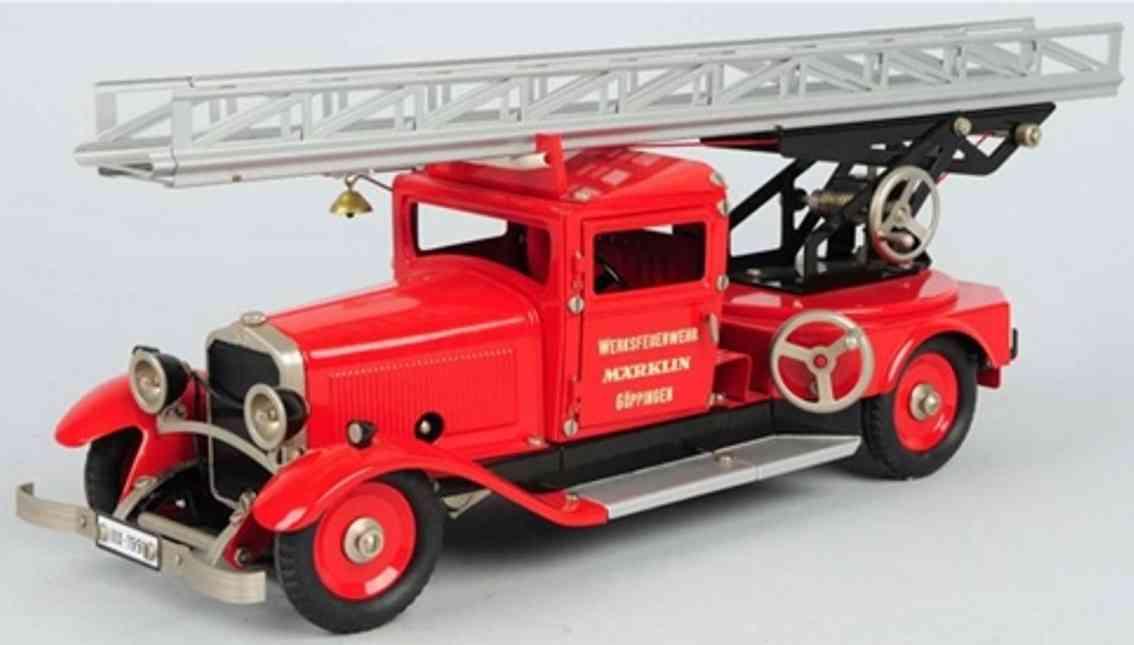 maerklin Feuerwehrwagen blech spielzeug feuerwehr feuerwehrwagen mit urherk und elektrischem licht und zwei fe