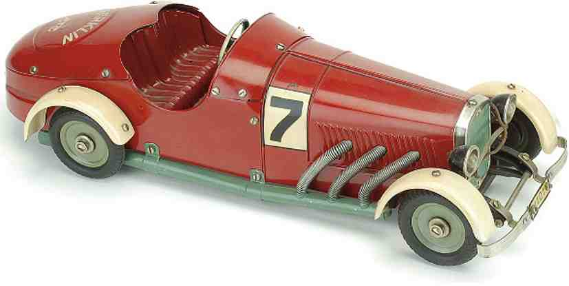 marklin m1 101/07 tin toy race car racer with clockwork made up from a kit